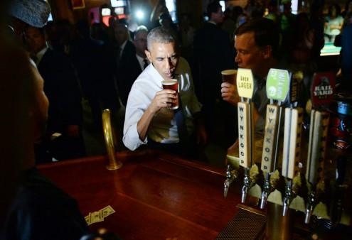 president obama at Wynkoop brewery